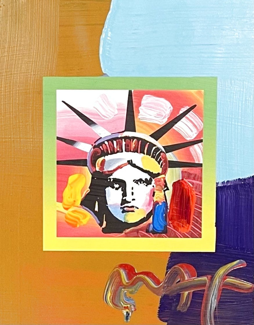 Liberty Head Unique 2007 21x19 Works on Paper (not prints) by Peter Max