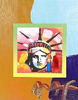 Liberty Head Unique 2007 21x19 Works on Paper (not prints) by Peter Max - 0