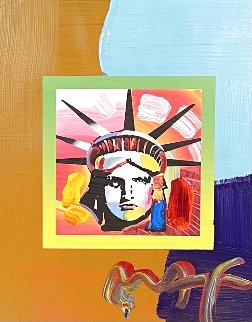 Liberty Head Unique 2007 21x19 Works on Paper (not prints) - Peter Max