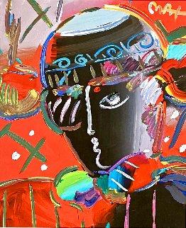 Zero Man Unique 2006 28x25 Works on Paper (not prints) - Peter Max