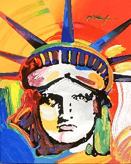 Liberty Head Unique 2006 29x25 Works on Paper (not prints) - Peter Max
