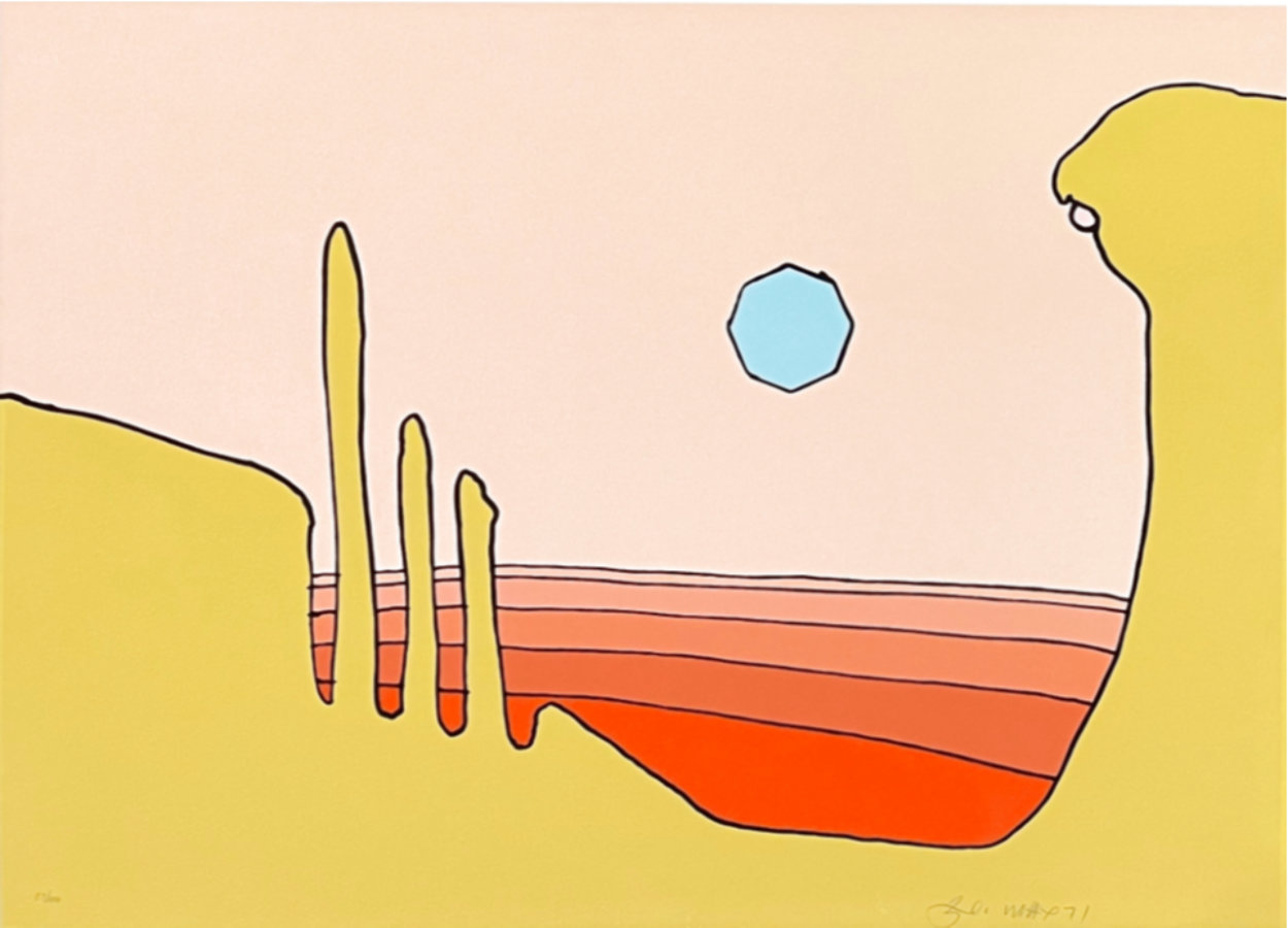 Desert Vision 1972 (Vintage) Limited Edition Print by Peter Max