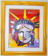 Delta Unique 1999 42x37 Huge  Works on Paper (not prints) by Peter Max - 1