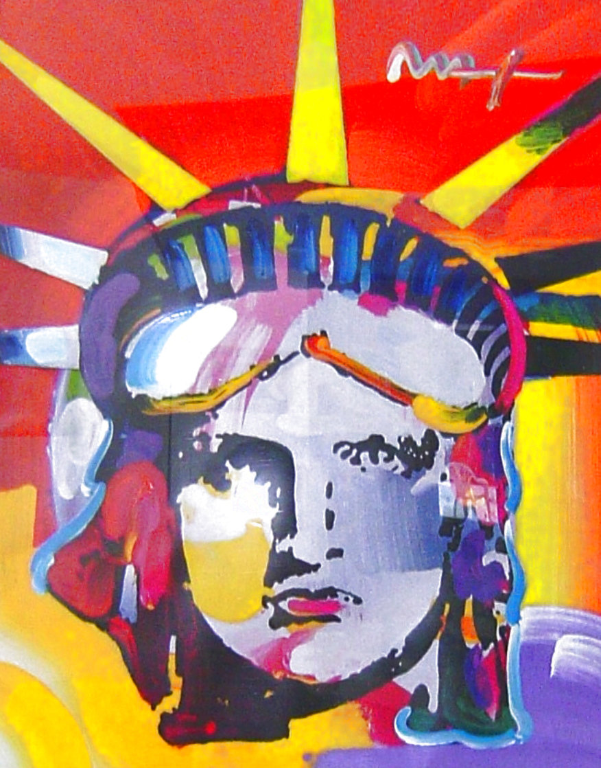 Delta Unique 1999 42x37 Huge  Works on Paper (not prints) by Peter Max