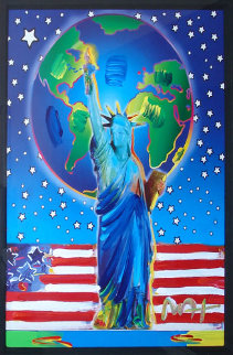 Peace on Earth 2001 24x18 Works on Paper (not prints) by Peter Max