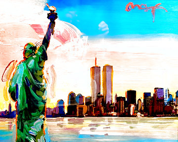 9-11 Series Statue of Liberty And Twin Towers 2011 27x31 Other - Peter Max