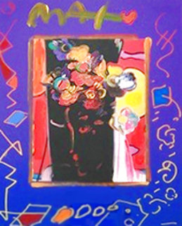 Roseville Profile Collage 1998 21x19 Works on Paper (not prints) - Peter Max