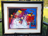 Mondrian Ladies Unique 1999 29x36 Works on Paper (not prints) by Peter Max - 2