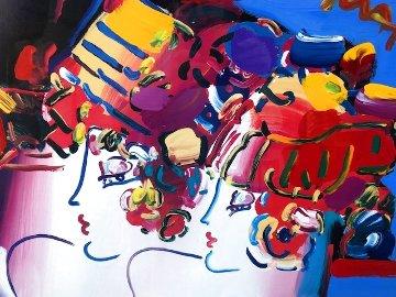 Mondrian Ladies Unique 1999 29x36 Works on Paper (not prints) - Peter Max