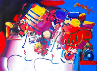Mondrian Ladies Unique 1999 29x36 Works on Paper (not prints) by Peter Max - 1