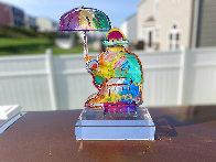 Umbrella Man  Acrylic Sculpture Unique 2014 12 in Sculpture by Peter Max - 3
