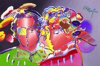 Zero in Love Unique Poster 2007 Embellished  Works on Paper (not prints) by Peter Max - 0