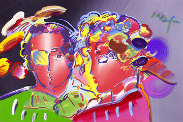 Zero in Love Unique Poster 2007 Embellished  Works on Paper (not prints) - Peter Max