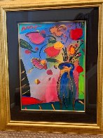 Flowers Unique 2002 36x31 Works on Paper (not prints) by Peter Max - 2
