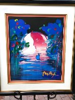 Rainforest Foundation Unique  1998 36x31 Works on Paper (not prints) by Peter Max - 1