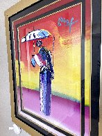 Sage With Umbrella And Cane 2004 42x36 Huge Works on Paper (not prints) by Peter Max - 3