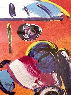 Sage With Umbrella And Cane 2004 42x36 Huge Works on Paper (not prints) by Peter Max - 5