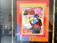 Umbrella Man on Blends Unique 2005 10x8 Works on Paper (not prints) by Peter Max - 2