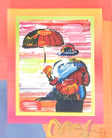 Umbrella Man on Blends Unique 2005 10x8 Works on Paper (not prints) by Peter Max - 0