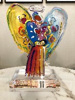 Angel With Heart Acrylic Sculpture Unique 2015 12 in Sculpture by Peter Max - 1