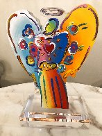 Angel With Heart Acrylic Sculpture Unique 2015 12 in Sculpture by Peter Max - 0
