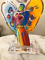 Angel With Heart Acrylic Sculpture Unique 2015 12 in Sculpture by Peter Max - 2