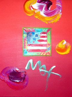 American Flag 2006 10x8 Works on Paper (not prints) by Peter Max
