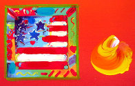 American Flag 2006 10x8 Works on Paper (not prints) by Peter Max - 1