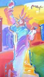 Statue of Liberty 2001 53x34 Huge Works on Paper (not prints) - Peter Max