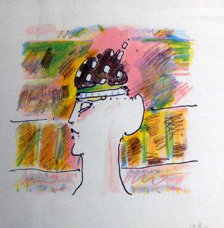 Monk with Hat (early) 1979 Vintage Limited Edition Print - Peter Max