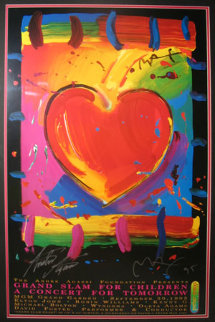 Grand Slam Heart 1995 HS Agassi Limited Edition Print - Peter Max