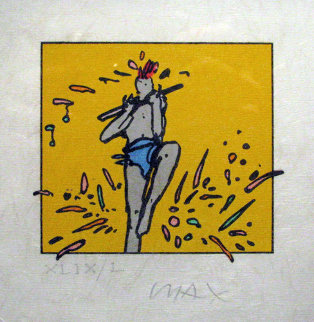 Flute Dancer (early work 1975) Limited Edition Print by Peter Max