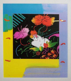 Lady Floating Flowers 2004 Limited Edition Print - Peter Max