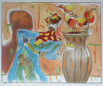 Robed Man And Vase 1980 Limited Edition Print by Peter Max
