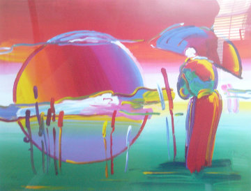 Rainbow Umbrelle Man In Reeds 2007 Limited Edition Print - Peter Max