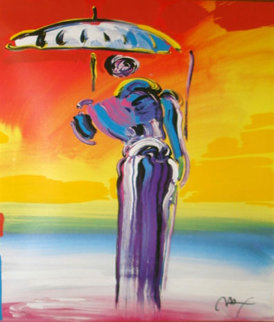 Umbrella Man With Cane 2001 Limited Edition Print - Peter Max