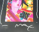 Asia Collage Version III No. 7 22x19 Works on Paper (not prints) by Peter Max - 2