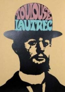 Toulouse Lautrec 1974 48x36 Super Huge Vintage Limited Edition Print - Peter Max