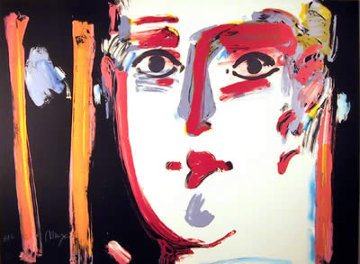 Visage III 1981 Study 21x29 Works on Paper (not prints) by Peter Max