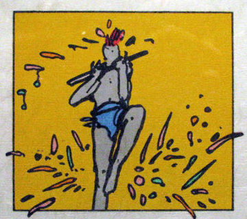 Flute Dancer (early) 1975 Limited Edition Print by Peter Max