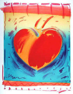 Heart II 1981 Limited Edition Print by Peter Max