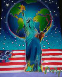 Peace on Earth 24x18 Works on Paper (not prints) by Peter Max