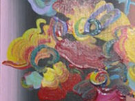 Roseville Profile Detail Ver. III #22 2007 24x18 Original Painting by Peter Max - 3