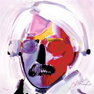 Andy With Mustache From Retrospective Suite  1989 Limited Edition Print - Peter Max