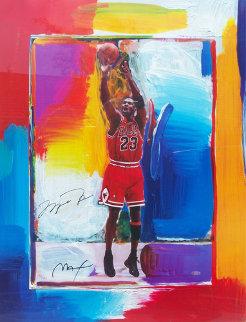 Last Shot Michael Jordan 1999 HS by Jordan Works on Paper (not prints) by Peter Max