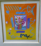 Angel with Heart Collage, Version II  14x12 1998 Works on Paper (not prints) by Peter Max - 1