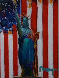 United We Stand 2005 24x18 Works on Paper (not prints) by Peter Max