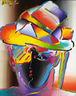 Zero Geo Version V #3 2008 20x16 Original Painting - Peter Max