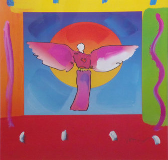 Angel with Sun   Version III 2004 Limited Edition Print - Peter Max