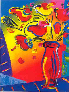 Vase with Flowers 2002 Limited Edition Print by Peter Max